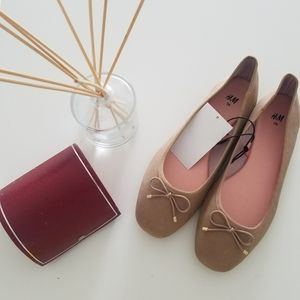 H&M Balerines Flats Suede Shoes Size 8.5